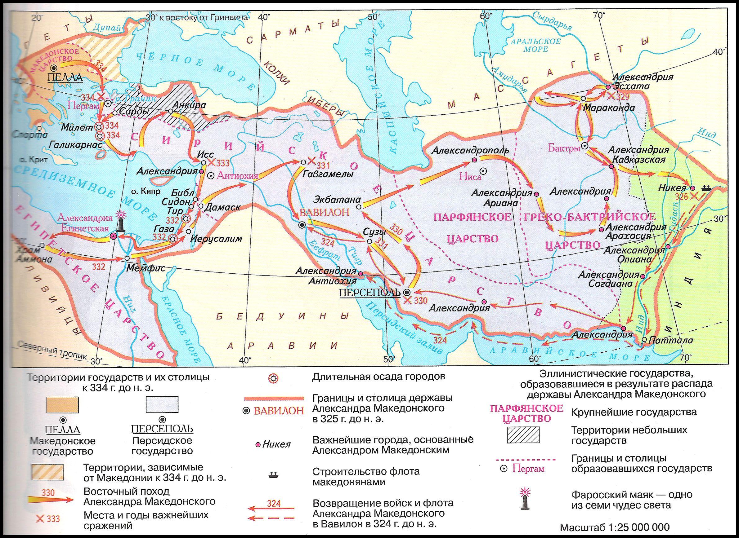 Восточный поход Александра Македонского, 334-324 гг. до н.э. Образование и распад державы Александра Македонского